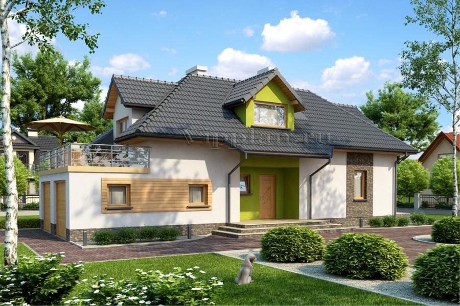 проект дома с цокалем и гаражом попугаи оптом Хабаровске